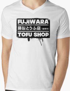 Initial D - Fujiwara Tofu Shop Tee (Black Box) Mens V-Neck T-Shirt