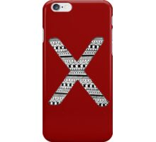 'X' Patterned Monogram iPhone Case/Skin