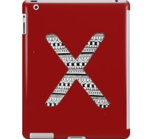 'X' Patterned Monogram iPad Case/Skin