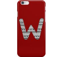 'W' Patterned Monogram iPhone Case/Skin