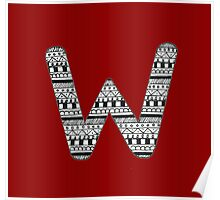 'W' Patterned Monogram Poster