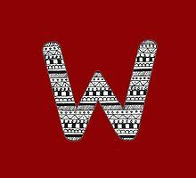 'W' Patterned Monogram by tadvani