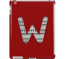 'W' Patterned Monogram iPad Case/Skin
