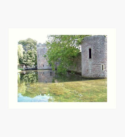 Castle Towers and Moat Art Print