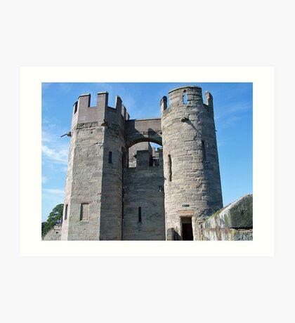 Warwick Castle Towers Art Print