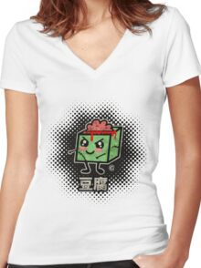 Tofu Zombie Women's Fitted V-Neck T-Shirt