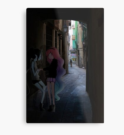 Marceline and Princess Bubblegum Rendezvous Metal Print