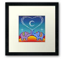 Elephant soul mates Framed Print