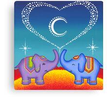 Elephant soul mates Canvas Print
