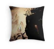 darkness fell... across the valley Throw Pillow