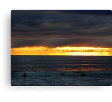Sunrise Dip on Manly Beach Canvas Print