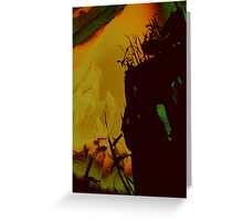 fire glows.... valley lights  Greeting Card