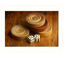 Backgammon Pieces Art Print