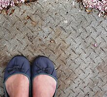 Ballet pumps on the concrete by fourthangel