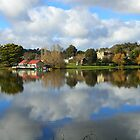 Daylesford Lake reflections by charlienelson