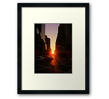 Sunset on 7th Avenue Framed Print