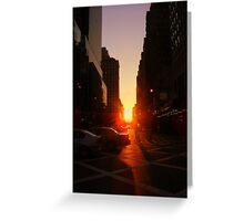 Sunset on 7th Avenue Greeting Card