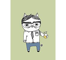 Nerdy Cat Photographic Print