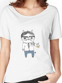 Nerdy Cat Women's Relaxed Fit T-Shirt