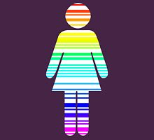 rainbow barcode girl Womens Fitted T-Shirt