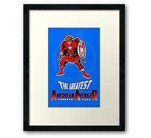 The Greatest American Avenger Framed Print