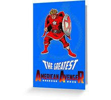 The Greatest American Avenger Greeting Card