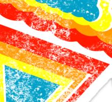 ice cream rainbow dripz Sticker
