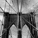 Brooklyn Bridge Monochrome by Jessica Jenney