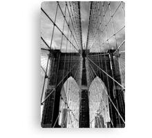 Brooklyn Bridge Monochrome Canvas Print