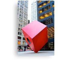 Red Cube Canvas Print