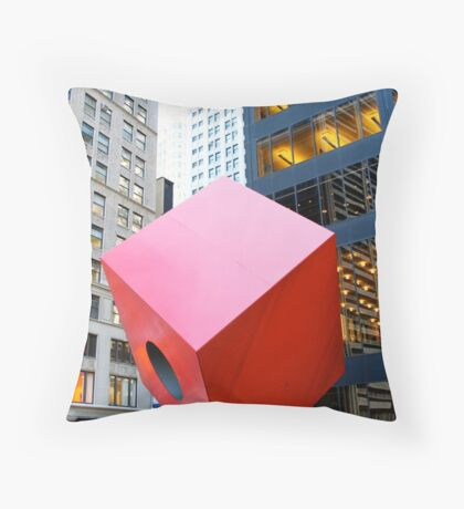 Red Cube Throw Pillow