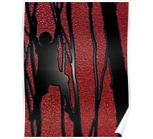 Boy in tree red Poster