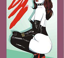 Stefanie in latex stockings and Corset by Phaedra
