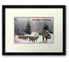 """""""Seasons Greetings"""" Framed Print"""