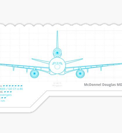 MD-11 Schematics Sticker