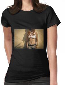 Go get 'em, tiger. 2 Womens Fitted T-Shirt
