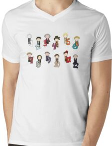 Count With the Doctors Mens V-Neck T-Shirt