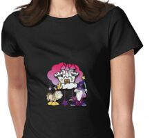 Fantasy castle with wizard and unicorn Womens Fitted T-Shirt