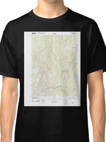 Massachusetts  USGS Historical Topo Map MA Barre 20120528 TM Classic T-Shirt