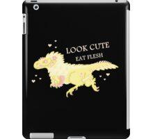 Fluffy Dinosaurs - Look Cute, Eat Flesh iPad Case/Skin