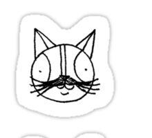 Catstache Sticker