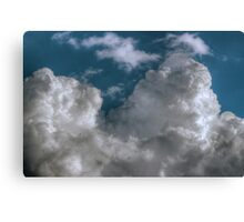 White Fluffy Clouds Canvas Print