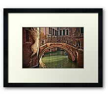 Venice - bridge Framed Print