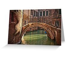 Venice - bridge Greeting Card