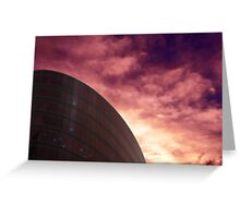 Cityscapes - Purple Glow Greeting Card