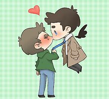 Destiel Kiss by fottantuno