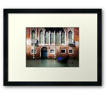 Venice, Canal Grande view with gondola Framed Print