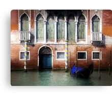Venice, Canal Grande view with gondola Canvas Print