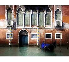 Venice, Canal Grande view with gondola Photographic Print