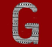 'G' Patterned Monogram  by tadvani